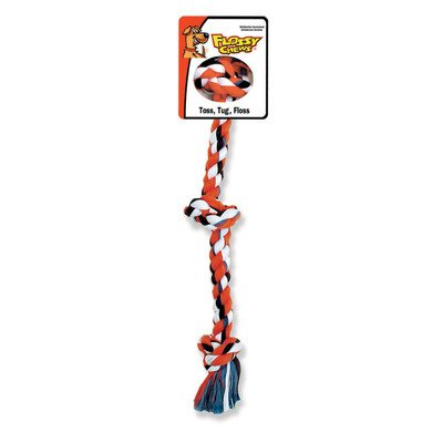 Cotton Blend 3 Knot Rope Tug Dog Toy in Multi  Size: Small