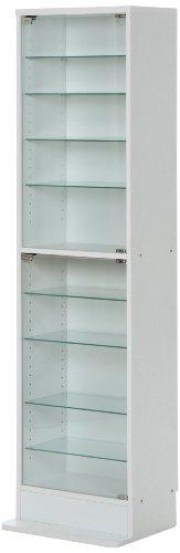 不二貿易 コレクション ケース ガラス製 奥行19cm ハイ タイプ フィギュア プラモデル ケース ホワイト 96073