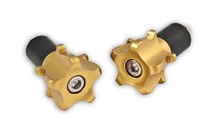 Motorcycle Striker Bar Ends - Gold - Universal - HONDA CBR 600, F2, F3, F4, F4i, SUZUKI GSXR 600, 750, 1000, 1300, YAMAHA R6, R1 Barends