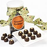 Brownie Points Signature Canister of 40 Dark Chocolate and Peanut Butter Gourmet Buckeyes