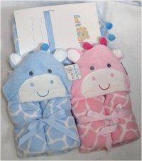 Plush Hooded Wrap 0-5yrs Snuggle Towel, Bathrobe, Super Soft