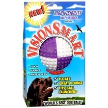 Vision Smart High Visibility Ball for Dogs Purple and White VISIONSMART, 1 ball.