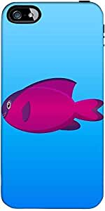 Snoogg A Vector Illustration Of A Pink And Purple Hooded Wrasse Fish On Blue ...