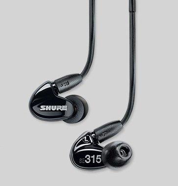 【国内正規品】 SHURE 高遮音性イヤホン ブラック SE315-K-J