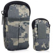 Waterproof Camouflage Zippers Two Bags Cell Phone Case Outdoor Accessory