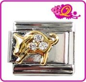 Quiges Fashion Jewels Italian Charms Module Stier 9mm
