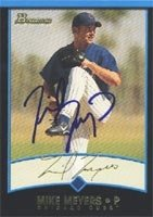 Mike Meyers Iowa Cubs - Cubs Affiliate 2001 Bowman Autographed Hand Signed Trading... by Hall of Fame Memorabilia