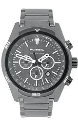 Fossil Men's Chronograph Black Stainless Steel