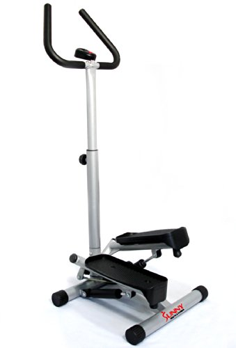 Find Bargain Sunny Health & Fitness Twister Stepper with Handle Bar