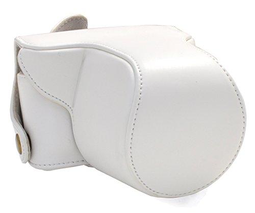 PLATA Nikon(ニコン) 1 J3 レンズキット 対応 カメラ ケース  ストラップ セット  ホワイト  WM-628G0-C0WH