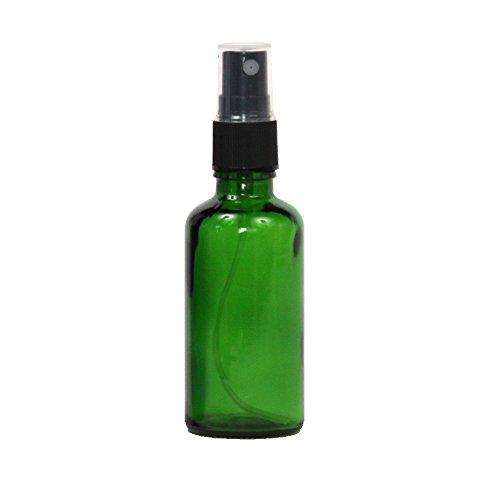 スプレーボトル ガラス瓶 50mL 遮光性グリーン ガラスアトマイザー 空容器