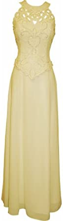 Mother Of The Bride Sleeveless Formal Wedding Gown MOB Dress, Small, Ivory