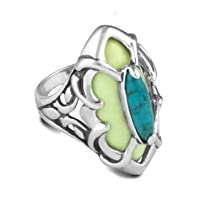 Relios Sterling Silver Turquoise Magnesite Refreshing Ring by Relios