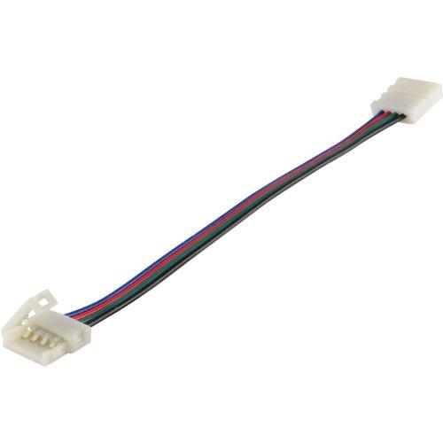 Abi 10Mm 6-Inch 4-Wire Solderless Flexible Coupler For 5050 Rgb Led Strip Light Pcb