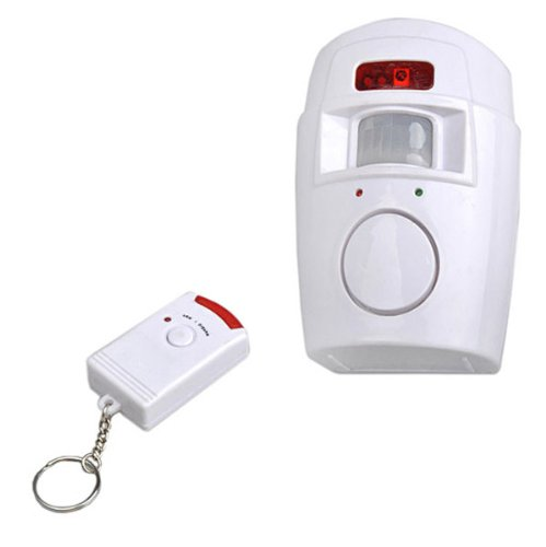 Neewer® Home Motion Sensor 105dB Alarm with 2 Remote ...
