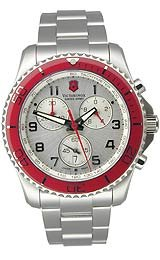 Victorinox Swiss Army Officer's Rubber Strap White Dial Women's Watch #241366