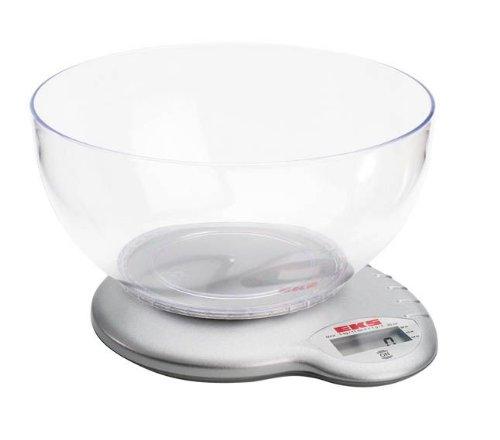 EKS 8222 AM/TR Balance de Cuisine Électronique en Plastique avec Bol 5 kg