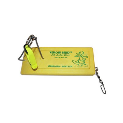 Yellow Bird Fishing Products Single Starboard Side Planer Board with 1 Scotty Release & Hardware