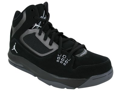 Nike Men's NIKE JORDAN FLIGHT 23 RST BASKETBALL SHOES 8 (BLACK/WHITE/DARK GREY)