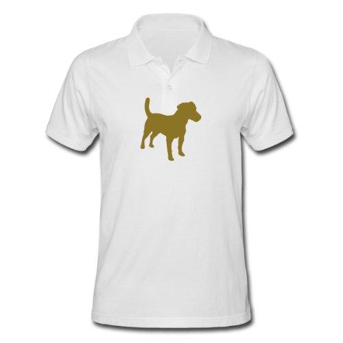 Spreadshirt, Jack Russell Terrier, Men's Polo Shirt, white, S