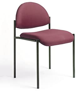 Boss Diamond Stacking Chair, Burgundy