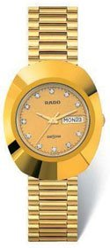 Rado Diastar All Gold Tone Stainless Steel Mens Watch R12393633 from Rado