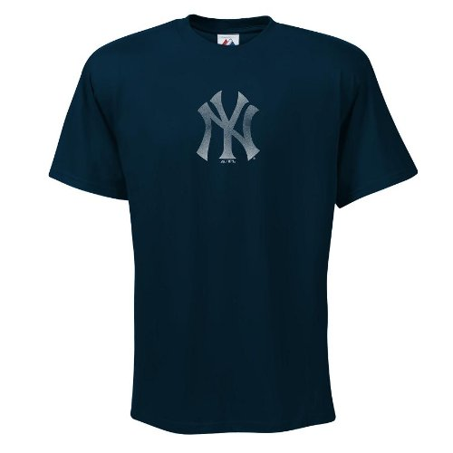 MLB New York Yankees Big Time Play Fashion Fit Logo T-shirt (Small)
