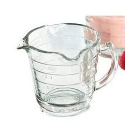 Anchor Hocking 16-Ounce Triple Pour Measuring Cup, Glass