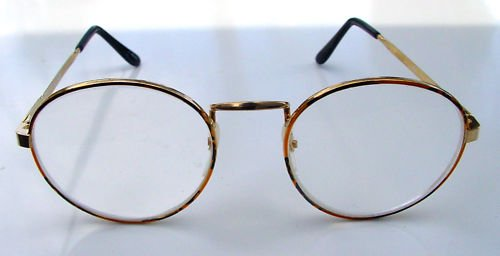 NEW ROUND READING GLASSES COPPER GOLD COLOUR 009 (+2.5)