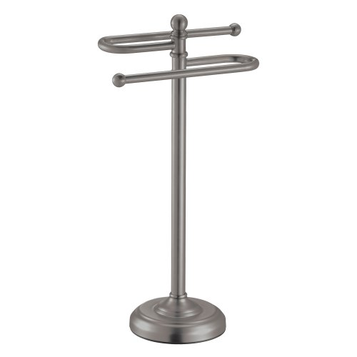 Gatco 1547 Counter Top S Style Towel Holder, Satin Nickel (Hand Towel Holder Brushed Nickel compare prices)
