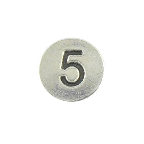Briefablage aus Perlen Metall rund 1 Qty 5 Metall Zahlen