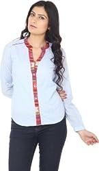 Eighteen 4ever Women's Shirt (KMA -184E -- 7303_Light Blue_Medium)