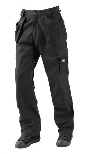 Lee Cooper - Pantaloni cargo da uomo, con tasche, nero, LCPNT216