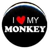 1 I Love My Monkey Button/Pin