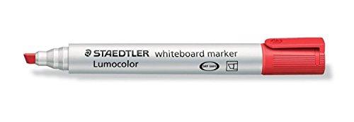 STAEDTLER Lot de 12 Lumocolors Marqueur tableau blanc 351B, rouge