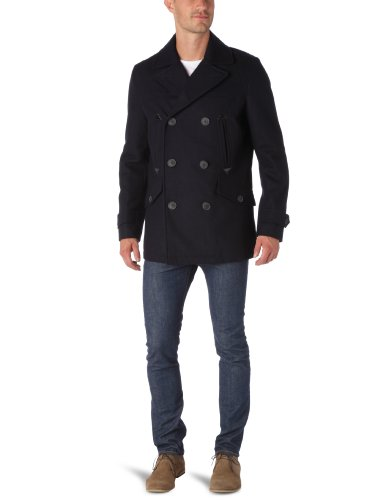 Dockers Classic Wool Melton Men's Peacoat Navy Medium