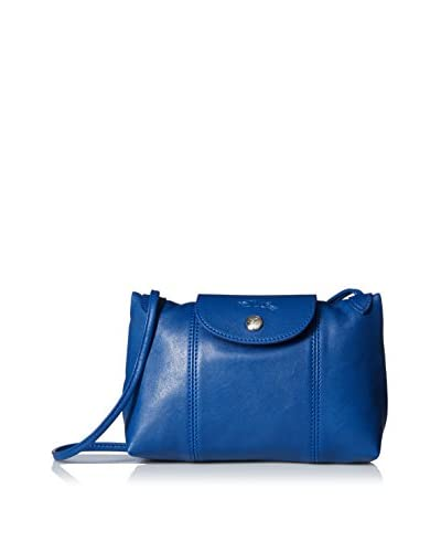 Longchamp Women's Le Pliage Cuir Crossbody Bag, Blue