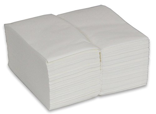 2dayShip Cloth-like Guest Towels 12 X 17 White Disposable Hand Napkins - 100 Pack