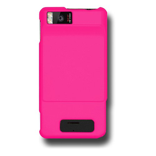 Amzer Rubberized Snap-On Case for Motorola DROID X MB810 - Hot Pink