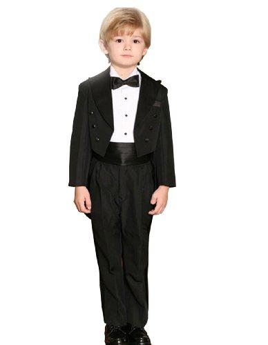 Andrew Toddlers Black Tuxedo Peak Collar 5 Piece Set Kids Sizes 4t Lasse Ylih 228 Rsil 228 Gol