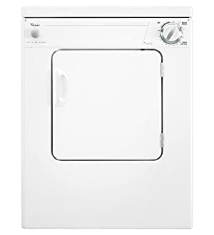 Whirlpool : Electric Dryer with 3 Automatic Cycles : White on White