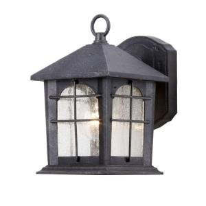 Hampton Bay Aged Iron 5.5 In. Outdoor Wall Lantern HB48023P-151 picture