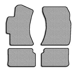 Subaru Impreza Simplex Carpeted Custom-Fit Floor Mats - 4 PC Set - Black (2008 2009 2010 2011 08 09 10 11)