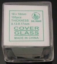 Gadgetworkz 1000 Piece Square Microscope Slides Cover Slips (18X18Mm)