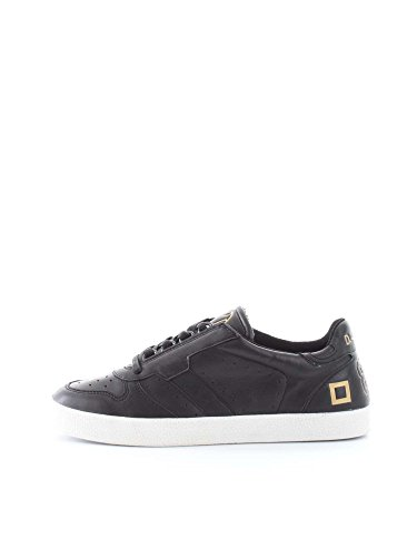 D.A.T.E. COURT LEATHER BLACK SNEAKERS Uomo BLACK 43