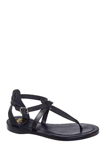 Rachel T-Strap Low Heel Sandal