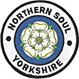 Sew-on Iron-on Embroidered Patch Northern Soul Yorkshire Fist Scooter Ska Badge