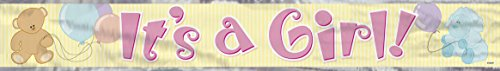 Unique Industries It's a Girl Foil Banner, 12'