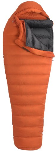Marmot Lithium MemBrain Down Sleeping Bag, Regular-Left, Orange