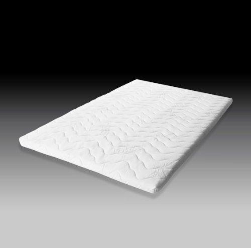 Sovramaterasso di alta qualità, dimensioni: 80 x 200 cm, in 100% lattice, 8 cm di spessore, con struttura traspirante monoblocco, tecnologia Dunlop a 7 zone, 180_x_200_x_8_cm